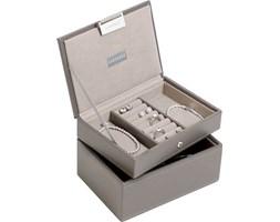 Pudełko na biżuterię podwójne mini Stackers szaro-beżowe