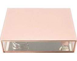 Pudełko na biżuterię szklane Stackers duże różowe