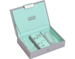 Pudełko na biżuterię z pokrywką mini Stackers szaro-miętowe