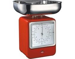 Waga kuchenna z zegarem Retro czerwona