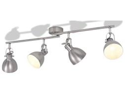 vidaXL Lampa sufitowa na 4 żarówki E14, szara