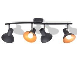 vidaXL Lampa sufitowa na 4 żarówki E27, czarno-złota
