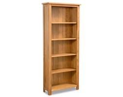 vidaXL Regał na książki z 5 półkami, 60 x 22,5 x 140 cm, drewno dębowe