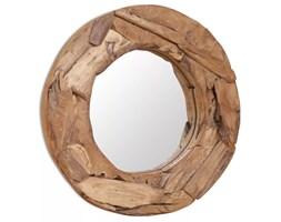 vidaXL Lustro dekoracyjne, drewno tekowe, 60 cm, okrągłe