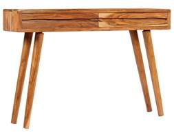 vidaXL Konsola z drewna akacjowego, żłobione szuflady, 118x30x80 cm