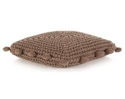 vidaXL Poduszka podłogowa, kwadratowa, bawełna, 50x50 cm, brązowa