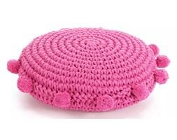 vidaXL Dziana poduszka podłogowa, okrągła, bawełna, 45 cm, różowa