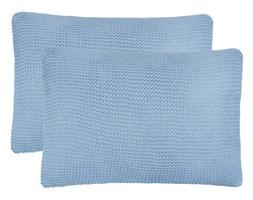 vidaXL 2 poduszki, bawełna o grubym splocie, 60x40 cm, jasnoniebieskie