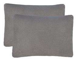 vidaXL 2 poduszki, bawełna o grubym splocie, 60x40 cm, ciemnoszare