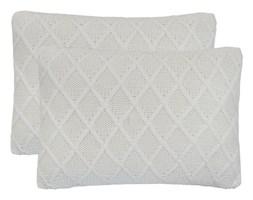 vidaXL 2 poduszki, bawełna o grubym splocie, 60x40 cm, złamana biel