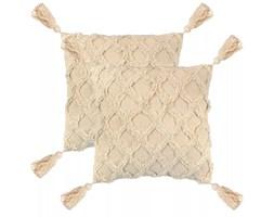 vidaXL 2 poduszki, 45x45 cm, wzór w kratę, kolor naturalny