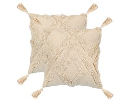 vidaXL 2 poduszki, 60x60 cm, wzór w romby, kolor naturalny