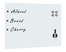 vidaXL Ścienna tablica magnetyczna, szklana, biała, 80 x 60 cm