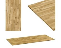 vidaXL Prostokątny blat do stolika z drewna dębowego, 23 mm, 100x60 cm