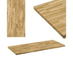 vidaXL Prostokątny blat do stolika z drewna dębowego, 44 mm, 140x60 cm