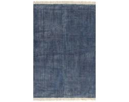vidaXL Dywan typu kilim, bawełna, 200 x 290 cm, niebieski