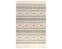 vidaXL Dywan typu kilim, bawełna, 120 x 180 cm, szaro-różowy ze wzorem