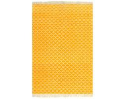 vidaXL Dywan typu kilim, bawełna, 120 x 180 cm, żółty ze wzorem