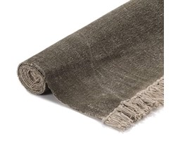vidaXL Dywan typu kilim, bawełna, 160 x 230 cm, żółty ze wzorem
