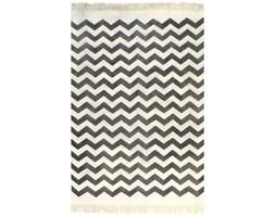 vidaXL Dywan typu kilim, bawełna, 120 x 180 cm, czarno-biały ze wzorem