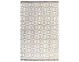 vidaXL Dywan typu kilim, bawełna, 120 x 180 cm, taupe ze wzorem
