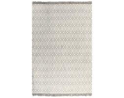 vidaXL Dywan typu kilim, bawełna, 160 x 230 cm, taupe ze wzorem