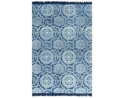 vidaXL Dywan typu kilim, bawełna, 120 x 180 cm, niebieski ze wzorem