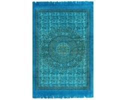 vidaXL Dywan typu kilim, bawełna, 120 x 180 cm, turkusowy ze wzorem