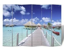 vidaXL Składany parawan, 240x170 cm, motyw plaży