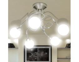 vidaXL Nowoczesna lampa sufitowa 5 okrągłych kloszy żarówki G9