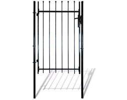 vidaXL Pojedyncza brama płotu z górą w kształcie harpuna 100 x 170 cm