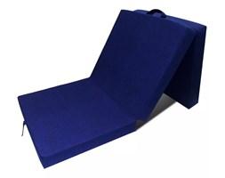 vidaXL Materac składany, trzysegmentowy, 190 x 70 x 9 cm, niebieski