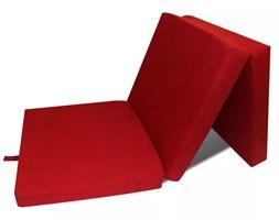vidaXL Materac składany, trzysegmentowy, 190 x 70 x 9 cm, czerwony