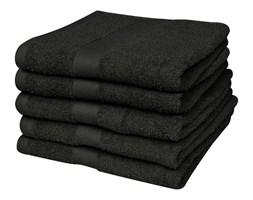vidaXL Ręczniki, 5 szt,, bawełna, 500 g/m², 100x150 cm, czarne