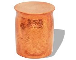 vidaXL Stolik kawowy/stołek z młotkowanego aluminium, kolor mosiądzu