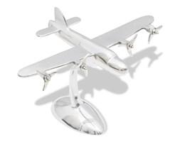 vidaXL Aluminiowy model samolotu dekoracja biurka