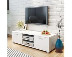 vidaXL Szafka pod TV na wysoki połysk biała 140x40,3x34,7 cm