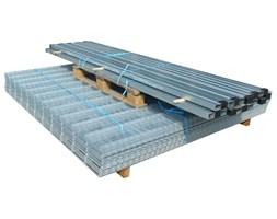 vidaXL 2D Panele i słupki ogrodzeniowe 2008x1230 mm 16 m srebrne
