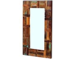 vidaXL Lustro z drewna odzyskanego 80x50 cm