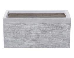 Beliani Doniczka biała prostokątna 50 x 23 x 24 cm MYRA