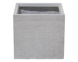 Beliani Doniczka biała kwadratowa 30 x 30 x 28 cm PAROS
