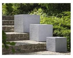 Beliani Doniczka biała kwadratowa 40 x 40 x 38 cm PAROS