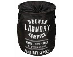 Perel Okrągła torba na pranie, czarna, jutowa, HP100205