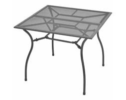 vidaXL Ogrodowy stół jadalniany, metalowa siatka, 90x90x72 cm