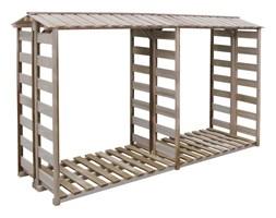 vidaXL Wiata na drewno opałowe, sosna impregnowana FSC, 300x100x176 cm