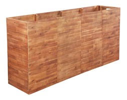 vidaXL Skrzynia na rośliny z drewna akacjowego, 200 x 50 x 100 cm