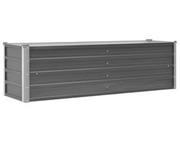 vidaXL Donica ogrodowa z galwanizowanej stali, 160x40x45 cm, szara
