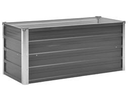 vidaXL Donica ogrodowa z galwanizowanej stali, 100x40x45 cm, szara