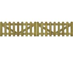 vidaXL Brama do płotu, 2 elementy, 300x60 cm, impregnowane drewno FSC