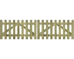 vidaXL Brama do płotu, 2 elementy, 300x80 cm, impregnowane drewno FSC